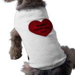 Corazón feliz del día de San Valentín Ropa De Perros