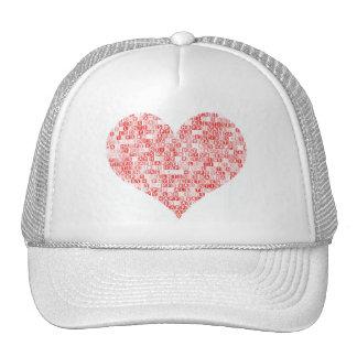 Corazón feliz del el día de San Valentín Gorros
