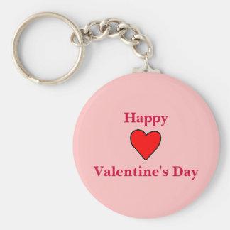 Corazón feliz del el día de San Valentín Llaveros