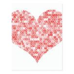 Corazón feliz del el día de San Valentín Postales