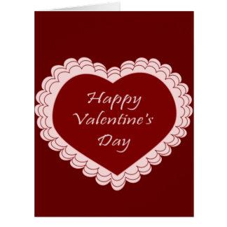 Corazón feliz del el día de San Valentín Tarjeta De Felicitación Grande