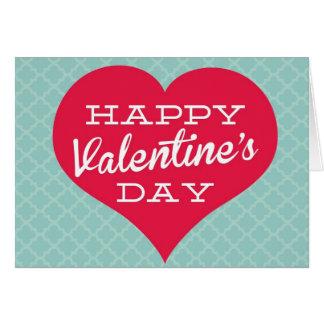 Corazón feliz del el día de San Valentín Tarjeta De Felicitación