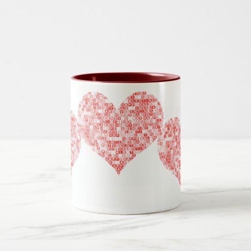 Corazón feliz del el día de San Valentín Taza De Café