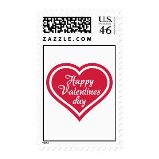 Corazón feliz del rojo del el día de San Valentín Envio