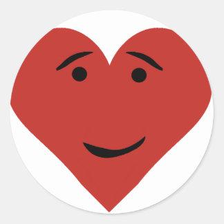 Corazón feliz etiquetas