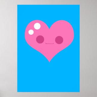 Corazón feliz impresiones