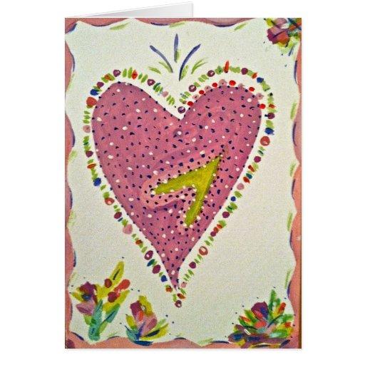 Corazón feliz tarjeta de felicitación