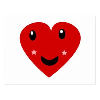 Corazón feliz tarjetas postales