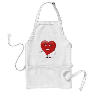 Corazón femenino delantal