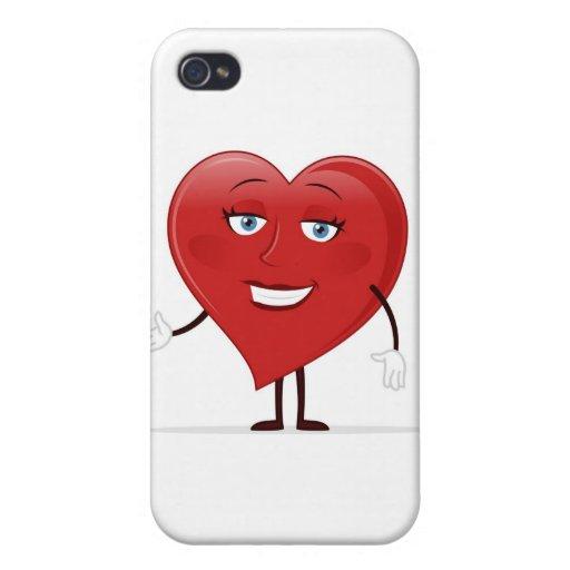 Corazón femenino iPhone 4 carcasa