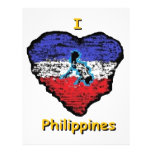 corazón Filipinas del amor Membrete A Diseño