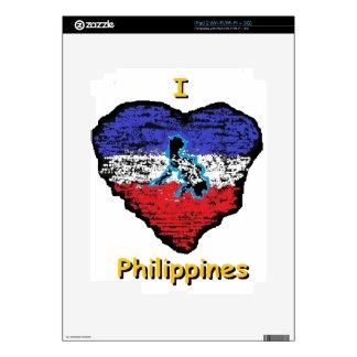 corazón Filipinas del amor Skins Para eliPad 2
