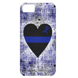 Corazón fino de Blue Line Funda iPhone 5C