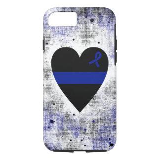 Corazón fino de Blue Line Funda iPhone 7