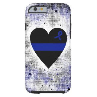 Corazón fino de Blue Line Funda Resistente iPhone 6