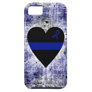 Corazón fino de Blue Line iPhone 5 Fundas
