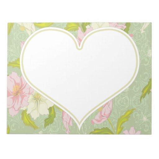 Corazón floral bloc