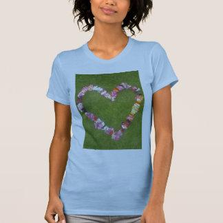 corazón floral camisas