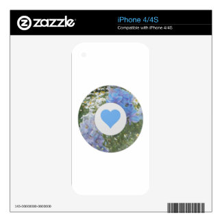 Corazón floral iPhone 4S skin