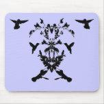 Corazón floral Mousepad del colibrí Tapetes De Ratones