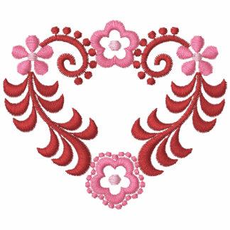 Corazón floral precioso - romántico - hermoso dise