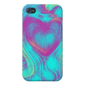 Corazón flotante iPhone 4/4S carcasa