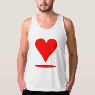 Corazón flotante rojo playera de tirantes