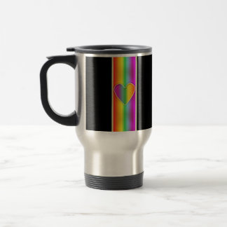 Corazón formal del arco iris taza de café