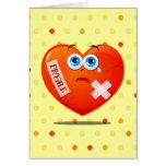 Corazón frágil, tarjeta de felicitaciones