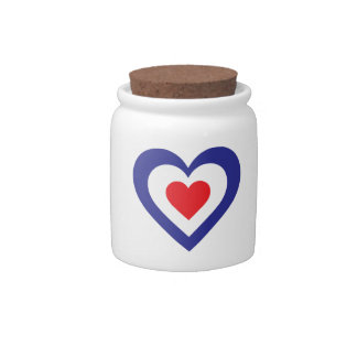 Corazón francés jarras para caramelos