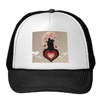 Corazón fresco abstracto de los amantes gorra