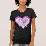 Corazón fresco del amor camiseta