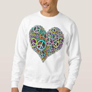 Corazón fresco del amor de la paz suéter