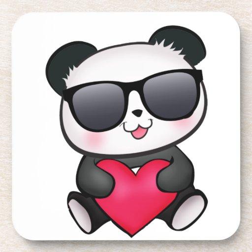 Corazón fresco del el día de San Valentín de las g Posavasos