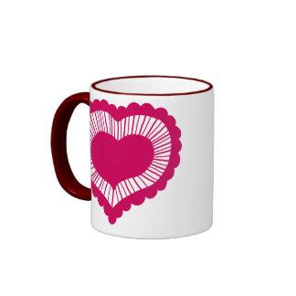 Corazón Frilled Taza De Café