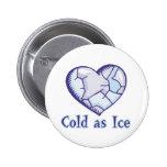 corazón frío del hielo pins