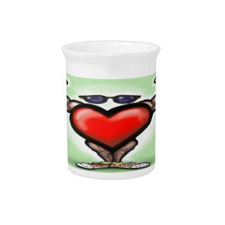 Corazón fuerte jarras