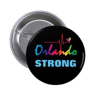 Corazón fuerte LGBT del pulso del arco iris de Pin Redondo De 2 Pulgadas