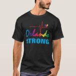 Corazón fuerte LGBT del pulso del arco iris de Playera