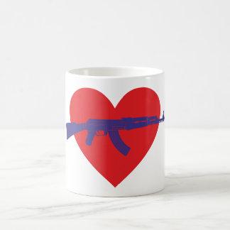 Corazón fusil heart gun tazas de café