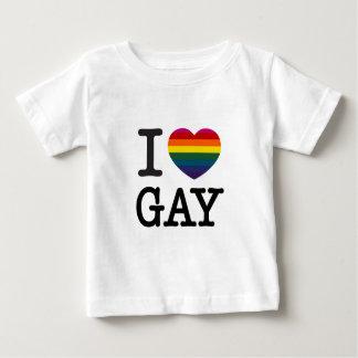 Corazón gay del arco iris del corazón I Playera De Bebé