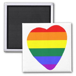 Corazón gay imán cuadrado
