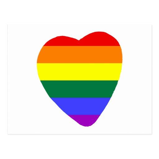 Corazón gay tarjeta postal