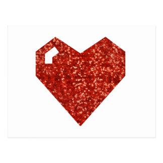 corazón geeky del día de San Valentín Tarjetas Postales