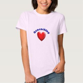 Corazón geocaching playera