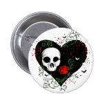 Corazón gótico pin