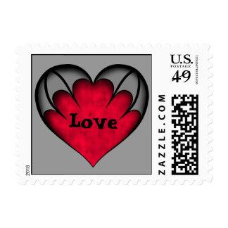 Corazón gótico romántico rojo y gris lindo del envio