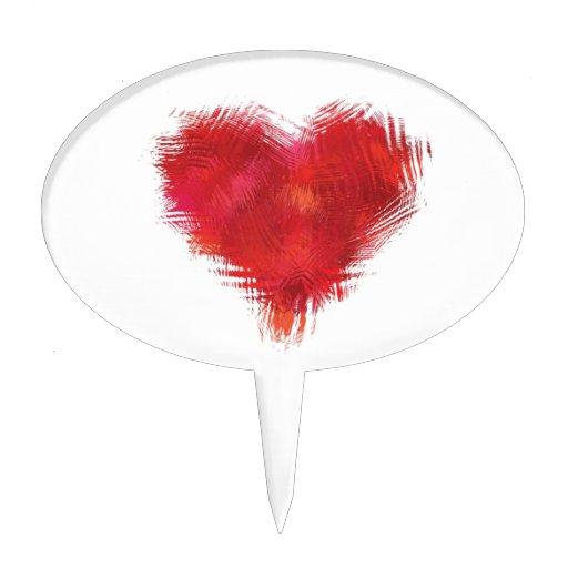 Corazón gráfico figuras de tarta