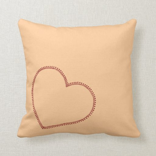 Corazón grande almohadas