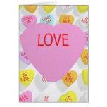 Corazón grande del AMOR para la tarjeta
